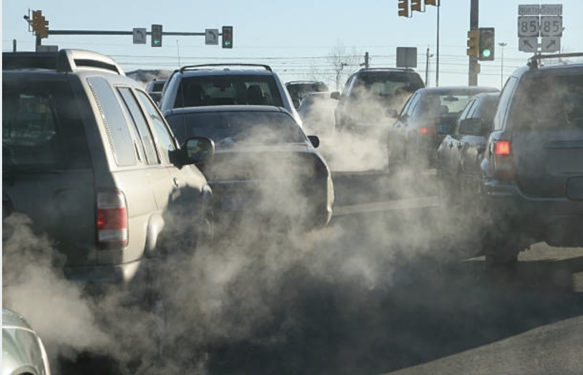 Diesel fumes pollution