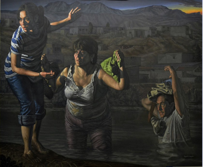 La Guia_ (The Guide) 2014 121.92 x 152.4 (x7.62) Oil on Linen